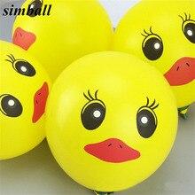 10 ADET 12 Inç Doğum Günü Sarı Ördek Lateks balonlar Doğum Günü Partisi Süslemeleri Çocuklar Için Hava Balonları Düğün Dekorasyon Balon