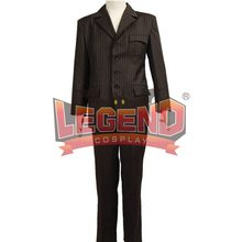 Doctor Who Tiende 10th DR. David Tennant Bruin Pak Cosplay Kostuum Bruin Pak outfit custom made(China)
