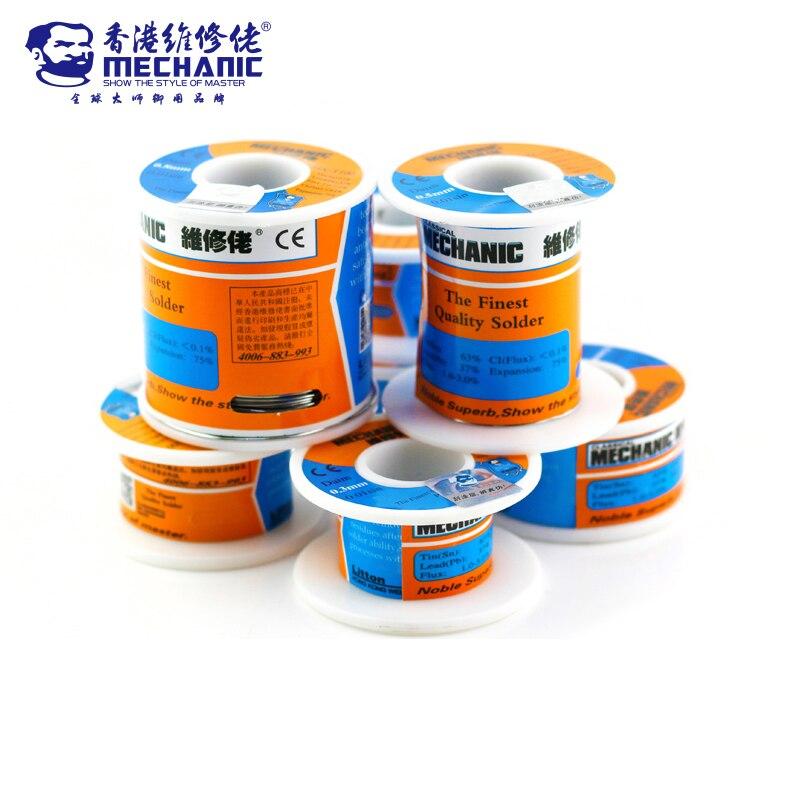 Tools : MECHANIC 500g Solder Silk low Temperature Rosin Flux 0 5 0 6 0 8 1 0mm Low Meltingl Point Solder Wire Soldering Tin BGA Welding