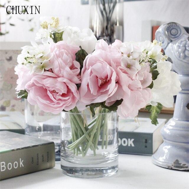 Romantique Mariée En Soie Fleur Bouquet Pivoine Hortensia ...