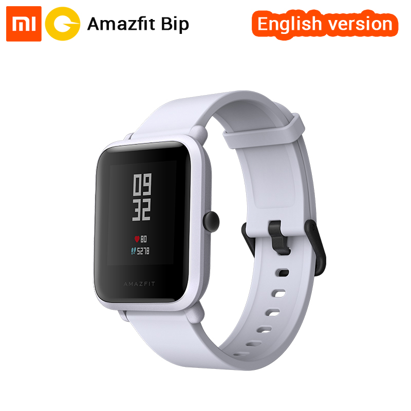 Xiaomi Huami Amazfit Bip Smart Watch English Version Smartwatch Pace Lite Bluetooth 4 0 GPS Heart