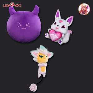 Image 1 - UWOWO Game Cosplay Accessory LOL Soraka Ahri Syndra  Doll Game LOL Cute Cosplay Accessories  Star Guardian Ahri Soraka Syndra