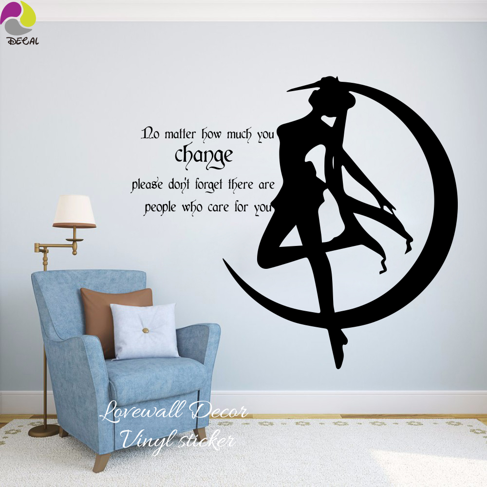 high quality baby girl quotes buy cheap baby girl quotes lots from cartoon japanese sail moon wall sticker baby nursery mango anime girl people who care quote wall