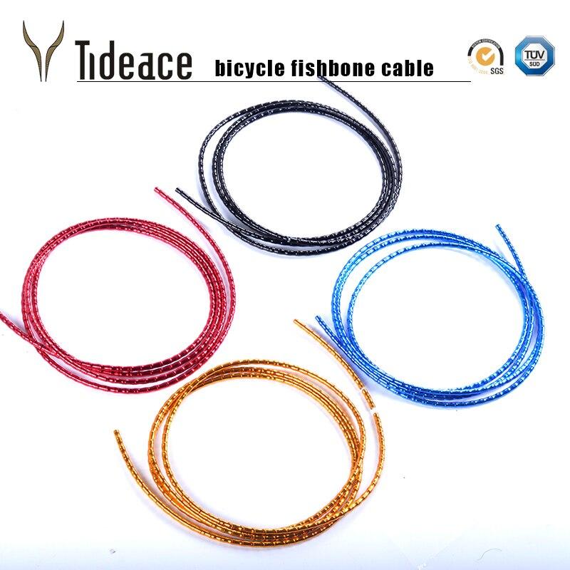 Tideace route/vtt vélo changement de vitesse câble de frein/logement ultraléger frein dérailleur tube fishbone aluminium logement vélo câbles ensemble
