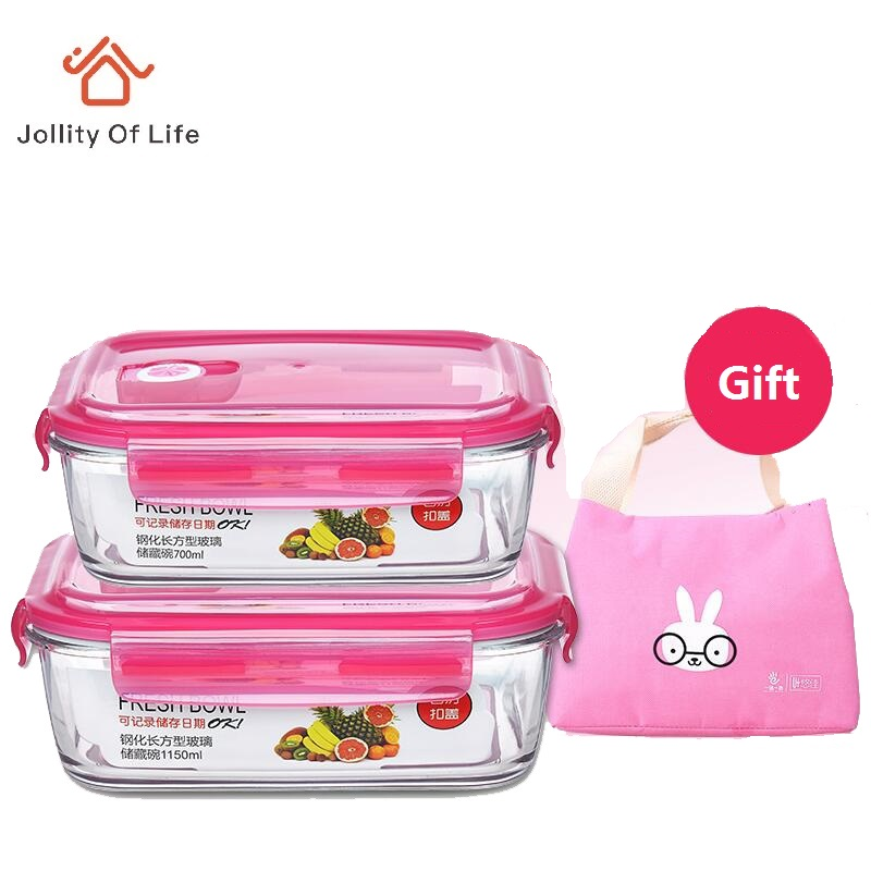 glass lunch boxes microwabable leakproof bento box with bag pink color 680 700 900 1100 1150ml. Black Bedroom Furniture Sets. Home Design Ideas