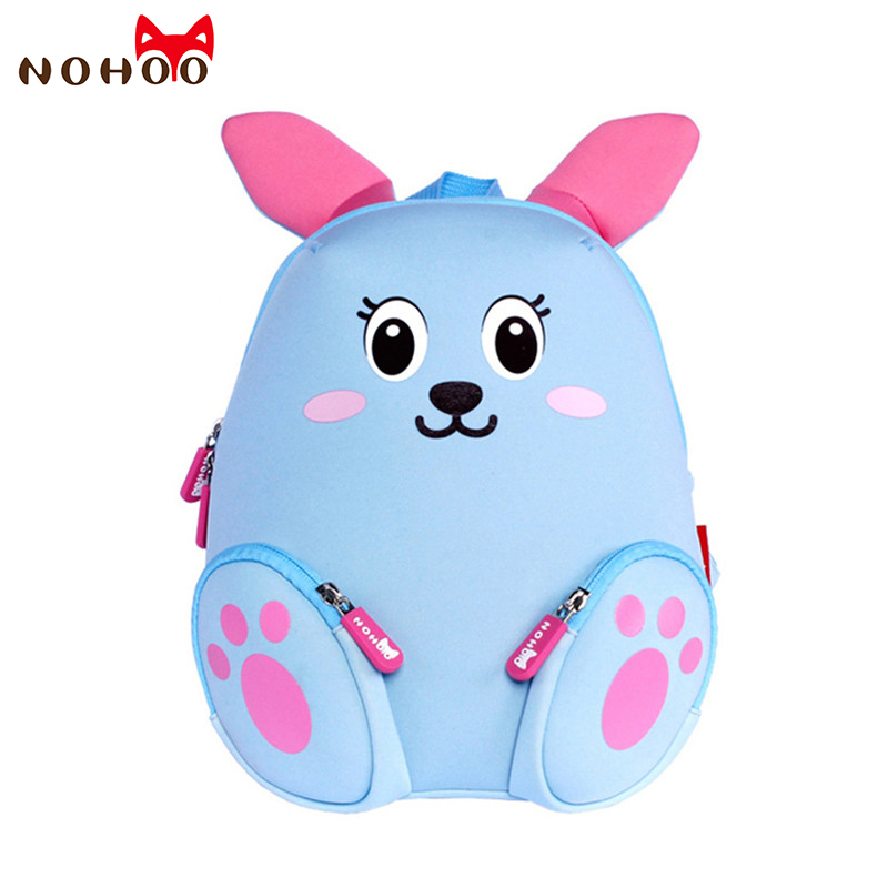 NOHOO Kid Backpack Little Kids Childrens School Bags Backpacks 3D Cartoon Rabbit Small Backpack Toddler Baby Girls School Bag