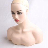 New 1PC Female Realistic Mannequin Head PVC Jewelry And Hat Display PVC Mold Stand Torson Wig