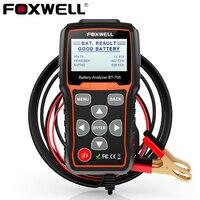 FOXWELL BT705 12 В 24 В Батарея Тестер 100 2000 CCA зарядки Системы для автомобилей тяжелых грузовых автомобилей лавинно AGM гель Батарея анализатор