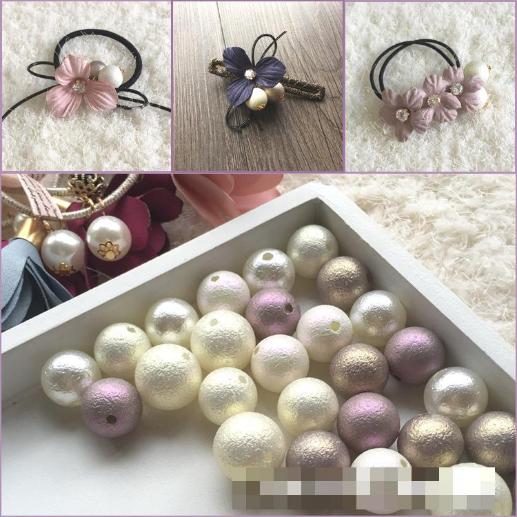 110pcs Beads-8mm Violet Purple Color Imitation Acrylic Round Pearl Spacer