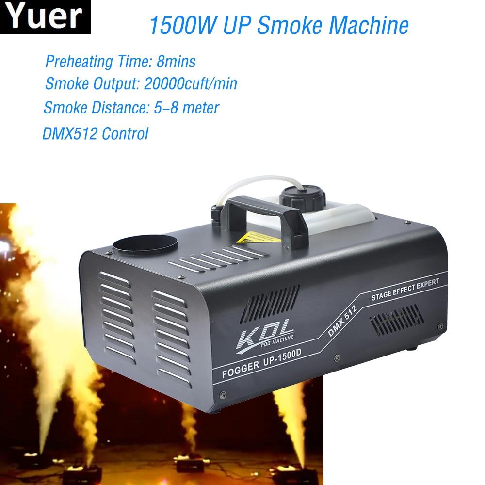 1500W DMX512 And Wireless Control UP Smoke Machine Pyro Vertical Fogger For Disco DJ Wedding Party Bar Stage Equipment
