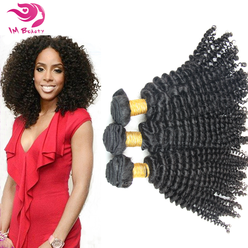 Malaysian Virgin Afro Kinky Curly Human Hair Extension Weaves Mixed