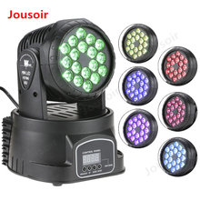 Dj Rgb Color Mixer Stage Lighting Led 3/9 Channel Mini Moving Head Wash Effect Stage Lamp Dmx-512 Sound Activation Strobe CD15(China)