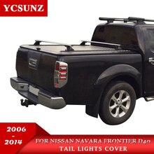 Автомобиль Chrome Navara 2006 аксессуары фонарь крышку лампы отделкой для Nissan Frontier Navara D40 2006-2013 стайлинга автомобилей части
