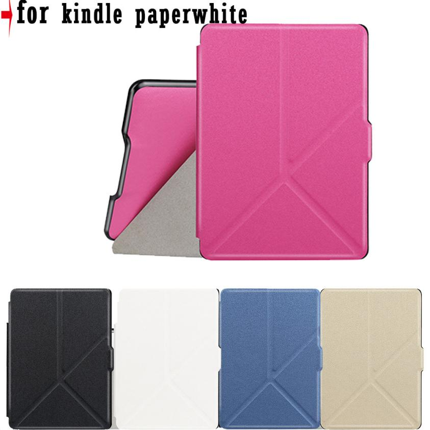 Micro Fiber Leather Origami Deformable Case Cover For Amazon Kindle Paperwhite Drop shipping AU03