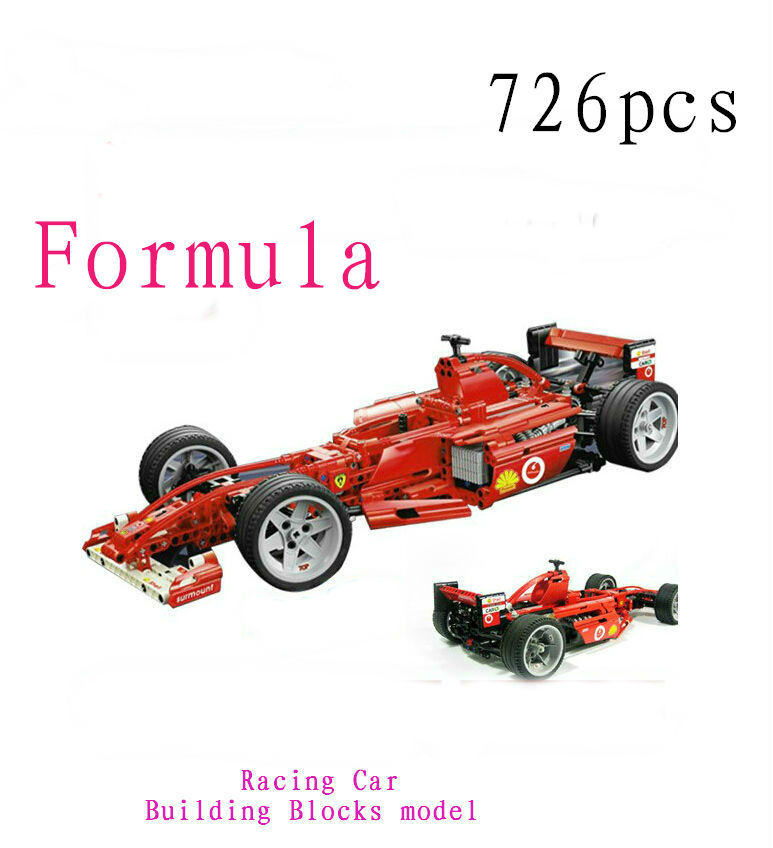 726pcs F1 Formula Racing Car 1:10 470mm/18.5in  Building Blocks Sets Decool 3334 Educational Toys Brick gift brain
