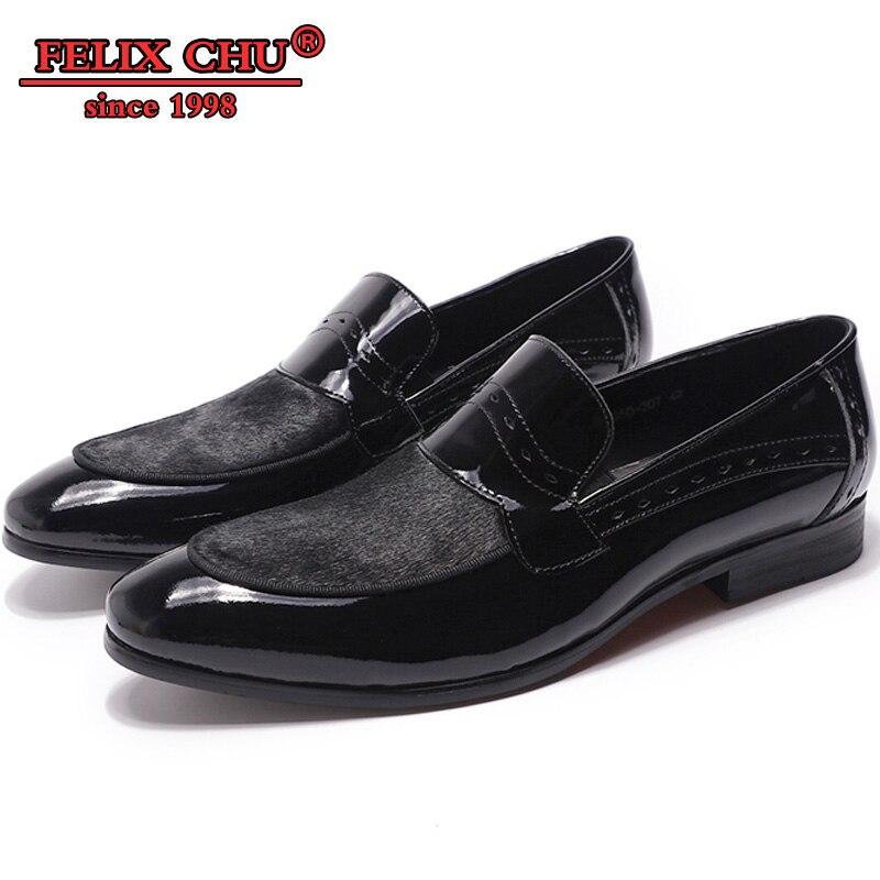 FELIX CHU LUXE MANNEN CASUAL SCHOENEN ECHT LEER OFFICE BUSINESS BLAUW ZWARTE SLIP OP HANDGEMAAKTE CASUAL HEREN INSTAPPERS LEDEREN SCHOENEN-in Casual schoenen voor Mannen van Schoenen op  Groep 2