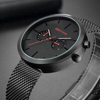 Luxury Top Brand Quartz Watches Men S Full Stainless Steel Black Wrist Watch Casual Relogio Masculino