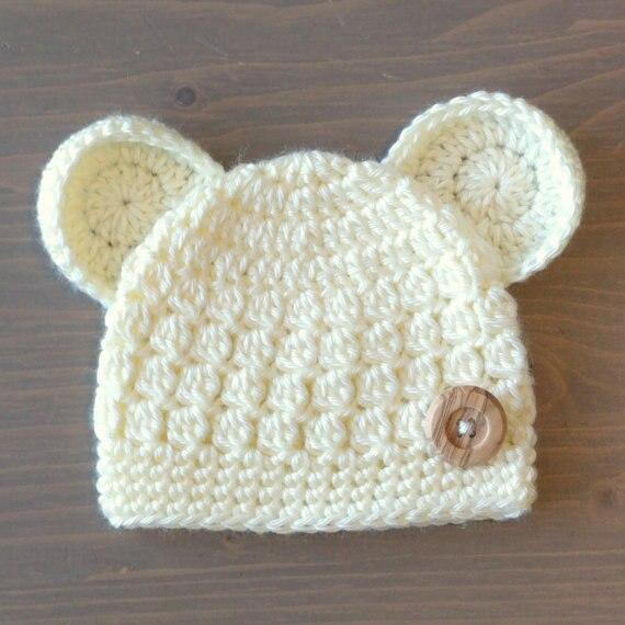 Nouveau-né Ours Chapeau, Crochet Ours Beanie, Crochet Bébé Chapeau, Bébé  Garçon 882e2dab68a