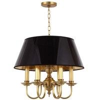 Post Modern Chandelier Lamp 5 arm Living Room Wedding Decoration Home Lighting Copper metal black PVC Lamp gold inside E14 lamp