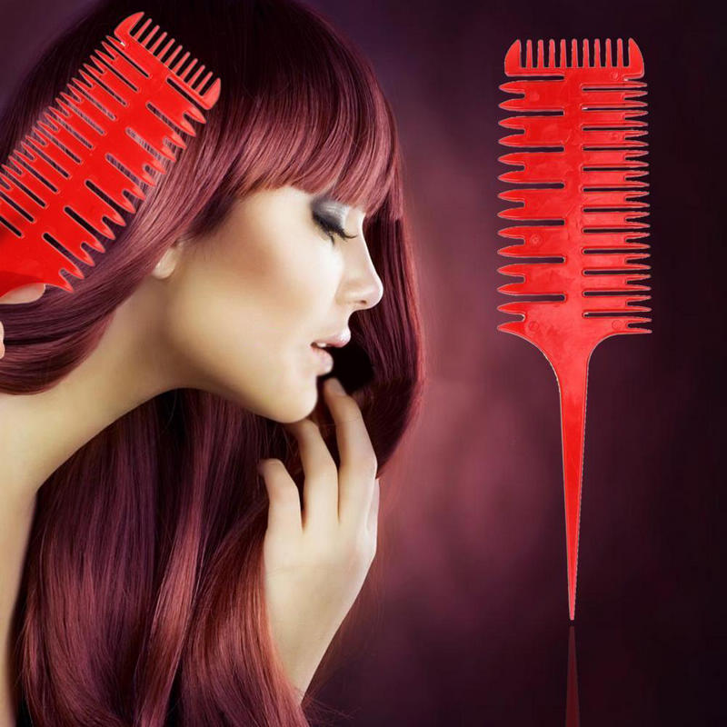 6 Colors 3-Way Sectioning Highlight Comb Professional Easy To Use Weave Weaving Comb Hair Dye Styling Tool For Salon Hot Selling