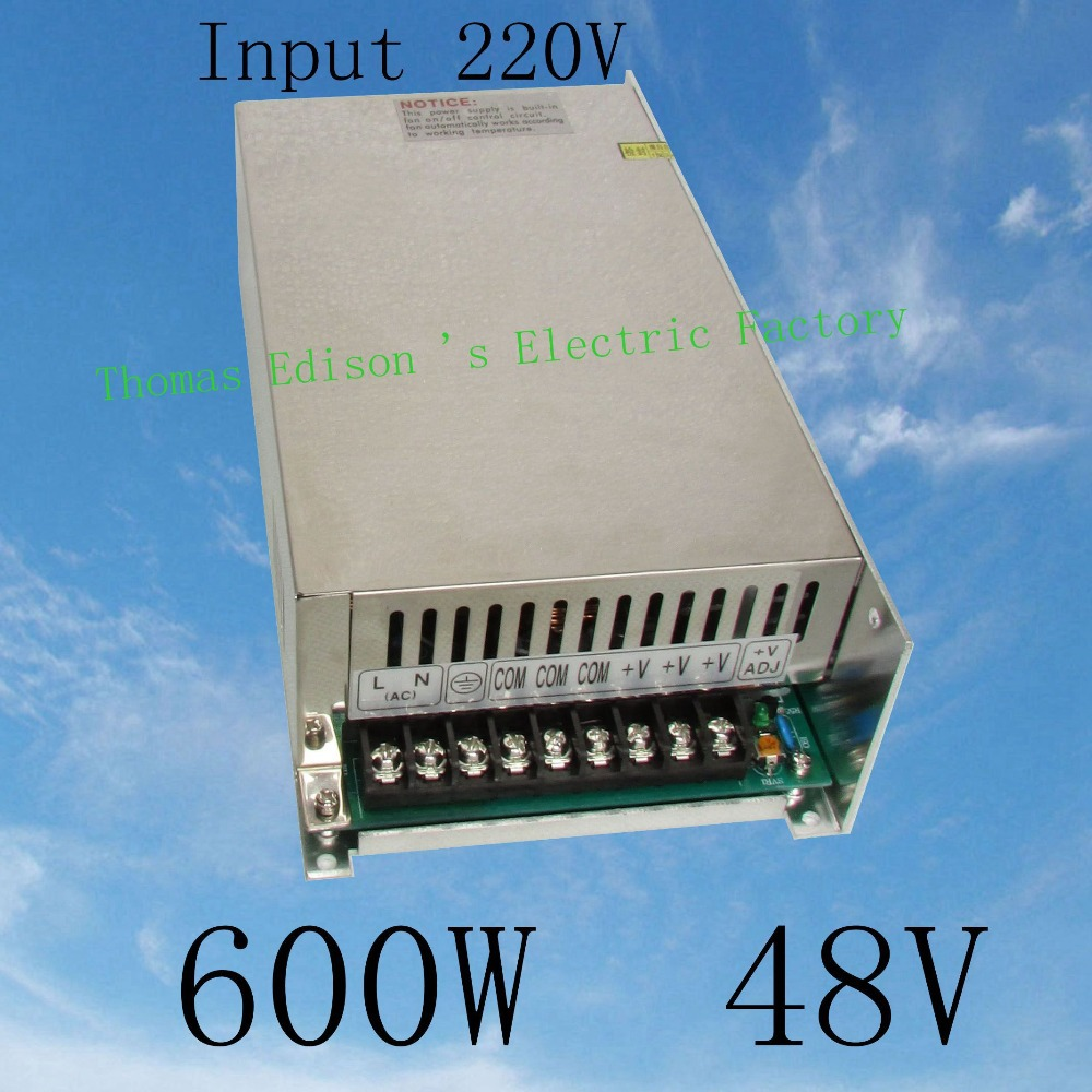 DMWD switching power supply 12.5A power suply 48v 600w ac to dc power supply Input 220v ac dc converter  high quality S-600-48 dmwd switching power supply 40a power