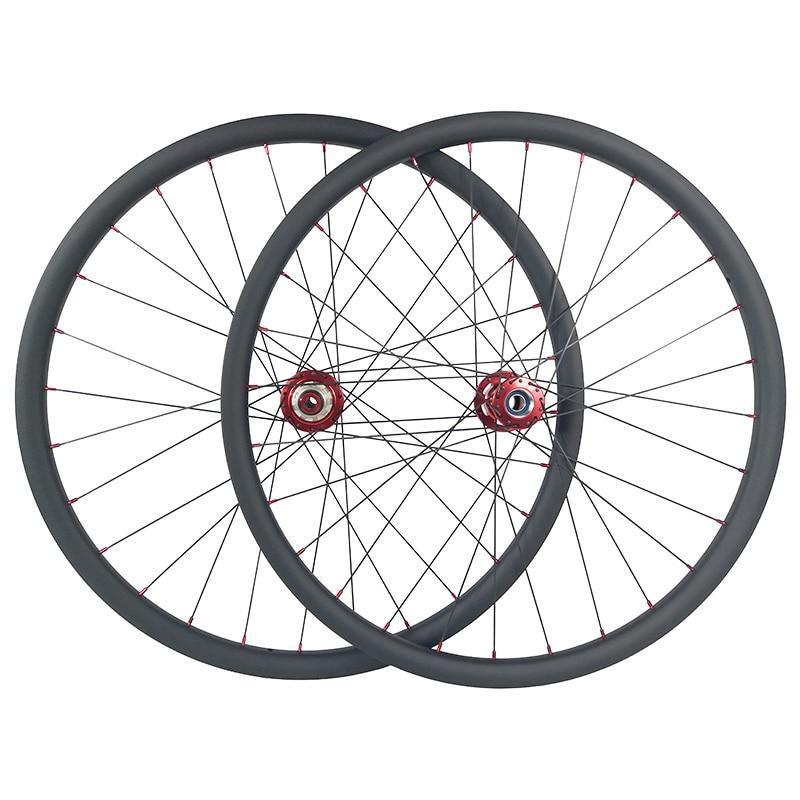 1310g 29er MTB XC lefty 2 0 tubeless carbon wheels 30mm 28H 32H UD 3K 12K