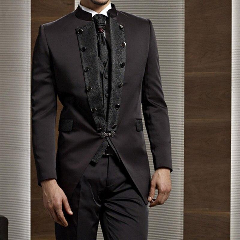 2017 bräutigam Smoking Schokolade Zweireiher Hochzeit Abendessen Bräutigam männer Anzüge Best Man Bräutigam männer anzug (Jacke + Pants + tie + Weste)-in Anzüge aus Herrenbekleidung bei  Gruppe 1