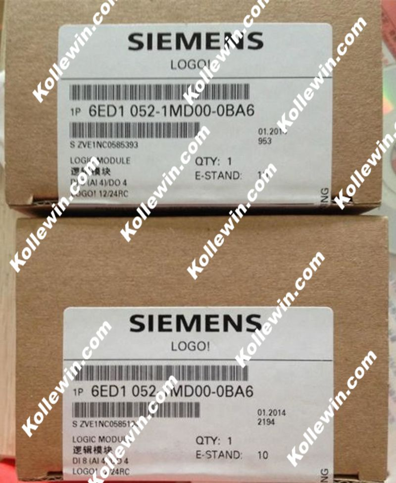 Original SIMATIC Logic Module 6ED1052-1MD00-0BA6, LOGO! series 12/24RC 6ED1 052-1MD00-0BA6, 8 DI (4AI)/4 DO, 6ED10521MD000BA6Original SIMATIC Logic Module 6ED1052-1MD00-0BA6, LOGO! series 12/24RC 6ED1 052-1MD00-0BA6, 8 DI (4AI)/4 DO, 6ED10521MD000BA6