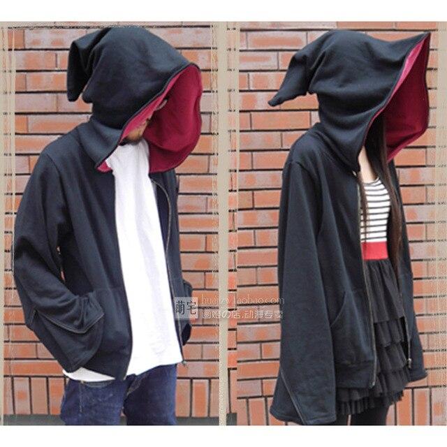 Unisex Adult Clothes Men Wizard Coat Women Coat Witch Costume Halloween Cosplay Hooded Hoodies Novelty Zipper Coat Outwear