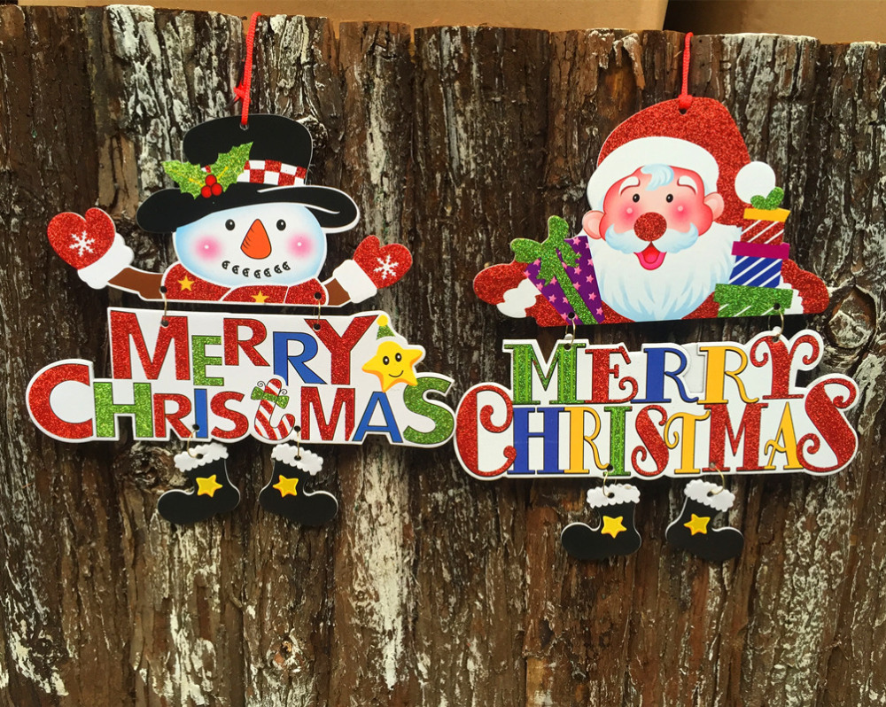 4pcs lot navidad decoraciones para el hogar merry for Decoraciones de navidad para el hogar