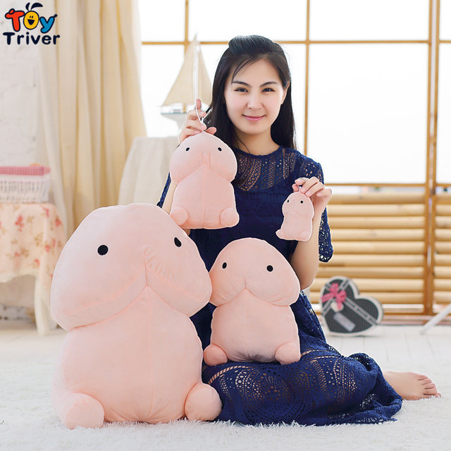 Plush Penis Toy Japanese Anime Stuffed Soft Doll Cushion Pillow Pendant Sexy Adult Boyfriend Creative Funny Birthday Gift Triver