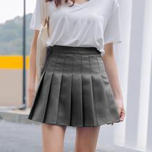 Плиссированная мини-юбка с завышенной талией для девочек и женщин, повседневная юбка для теннисной формы, модная Однотонная юбка mujer Vogue, Прямая поставка#0710