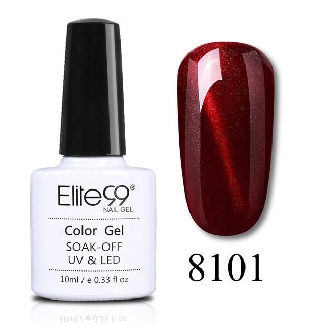 Elite99 10 ml Katze Auge Nagel Gel Magnet Tränken Weg Vom UV Gel Nagellack Wein Rot Lack Primer Top Mantel nail art Maniküre Gel Lak