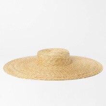 Sombrero de ala ancha mujer verano Vintage sombrero de paja 2018 playa  Floppy sombreros para damas bca8e7b9173