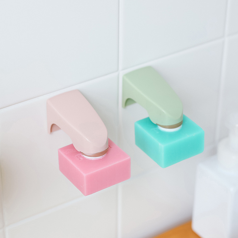 1 PC Portable New Magnetic Soap Holder Dispenser Kitchen Bathroom Shower Wall Mounted Sticking Dishes