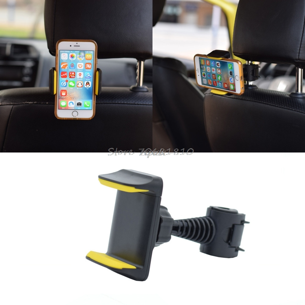 360 Degree Rotatable Car Back Seat Headrest Mount Stand For IPhone Samsung Sony Xiaomi Huawei HTC Mobile Phone GPS 3.5 To 6inch