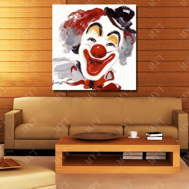 Funny Clown Oil Painting Home Decoration Living Room Wall Hand Painted Art Canvas Big