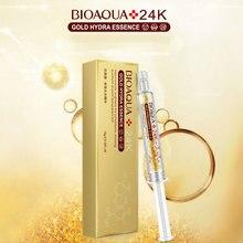 Bioaqua 24k Gold Foil Skin Care Brand Hyaluronic Acid Liquid Moisturizing Anti Wrinkle Anti Aging Collagen Essence Cream 10ml