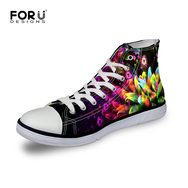 2016 New Fashion Women Casual Canvas Shoes Woman 6 Colors Walking Shoes Women High Top Floral Shoes Chaussure Femme