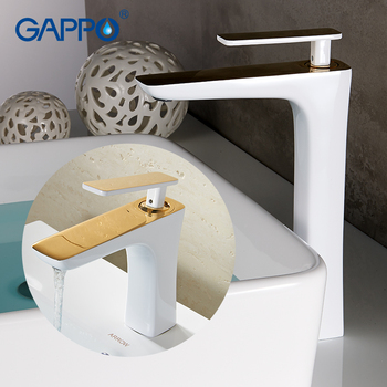 GAPPO Basin Faucets white deck mounted waterfall faucet basin sink water mixers taps bathroom sink faucet griferia