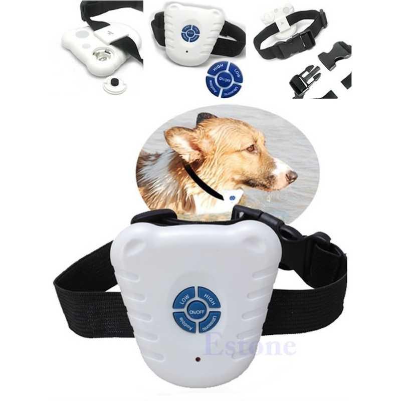 Waterproof Dog Stop Barking Anti Barking Repeller Control Trainer Training Device Button Clicker Ultrasonic Dog Anti Bark Collar