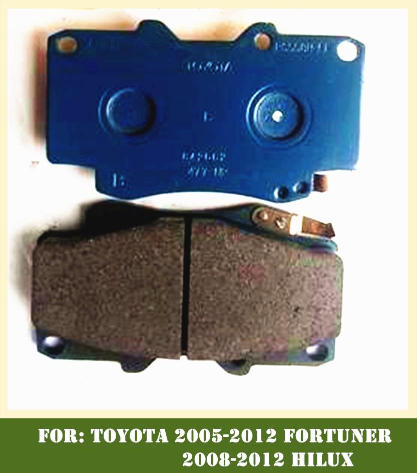 Plaquettes de frein avant pour Toyota 2005-2012 FORTUNER 2008-2012 HILUX TGN51, TGN61, KUN51 OEM: 04465-0K020 pièce de voiture 044650K020