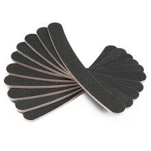 10PCS Slim Sandpaper Nail Files Nail File For Manicure Banan Black & Grey Zebra 100/180 Grit Emery Board Nail Buffer Pedicure,MF
