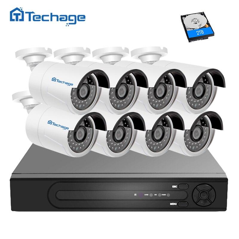 bilder für Techage H.265 4.0MP POE Überwachungskamera CCTV System 8CH NVR, 8 stücke 2592*1520 Ip-kamera Außen Tag/Nachtsicht Surveillance Kit