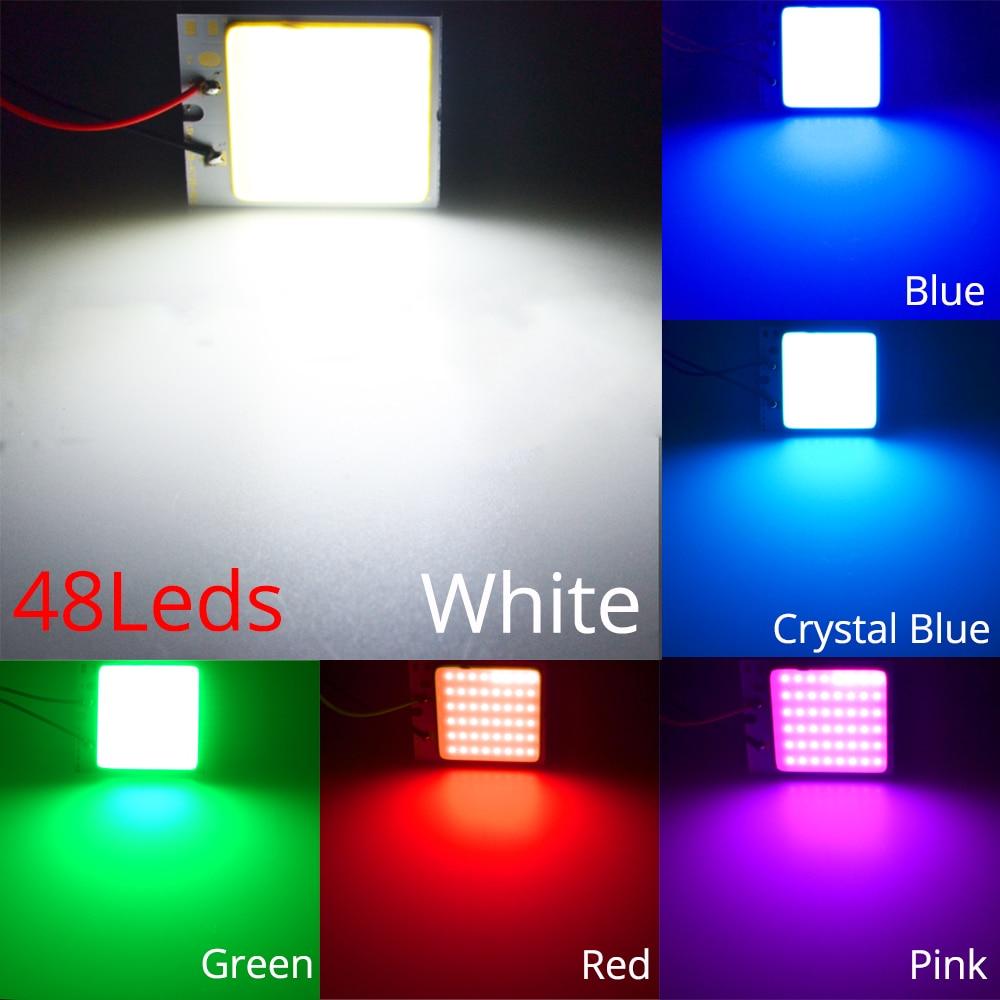 HTB19D3Nao rK1Rjy0Fcq6zEvVXap White Red Blue T10 W5w Cob 24SMD 36SMD Car Led Vehicle Panel Lamp Auto Interior Reading Lamp Bulb Light Dome Festoon BA9S DC 12v