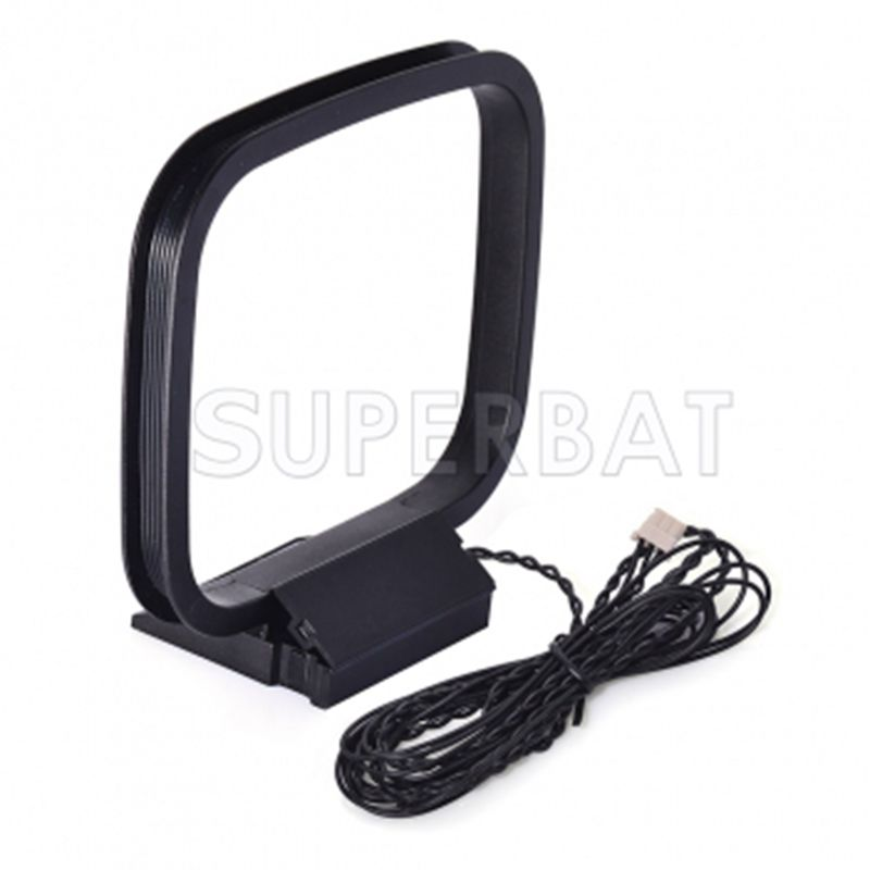 Superbat AM And FM Loop Antenna With 3-pin Mini Connector For Sony Sharp Stereo Receiver