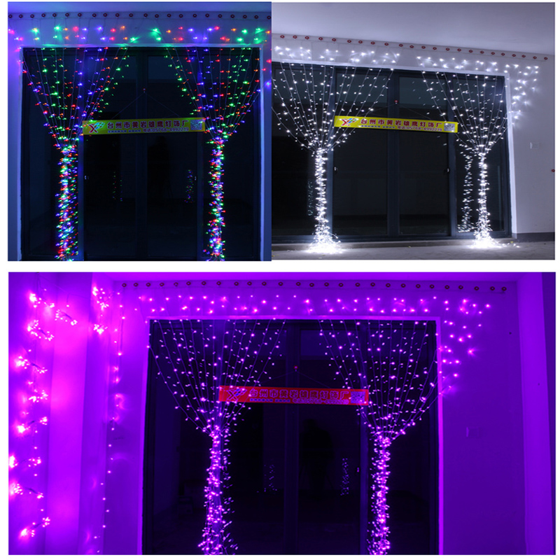 LED curtain Lights Holiday lighting 6*3 m String garland Fairy wedding home garden indoor outdoor Christmas Luminaria Decoration 10m battery operated fairy lights led string garland curtain lamp for wedding indoor holiday lighting christmas tree luminaria