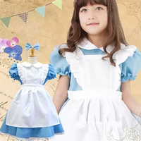 High Quality Girl Dresses Princess Children Clothing Alice In Wonderland Cosplay Costume Fancy Party Dress Girls