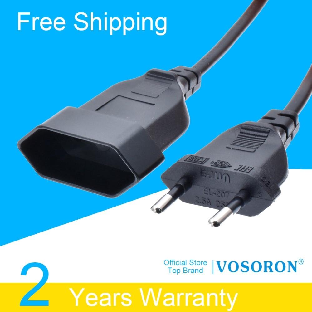 Europäische EU Schuko CEE VDE Männlichen zu Weiblichen Power Verlängerung Kabel Kabel für PC Computer PDU UPS 0,5 M/ 1 M/2 M/3 M/4 M/5 M