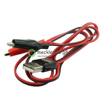 Krokodil Tests Schellen Clip zu USB Stecker Power Adapter Draht 75cm